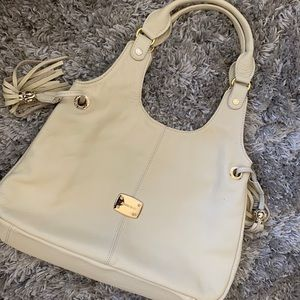 Authentic Beige Jimmy Choo Leather Shoulder Bag